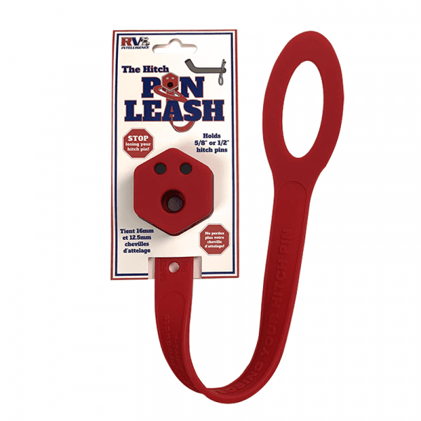 Hitch Pin Leash white background