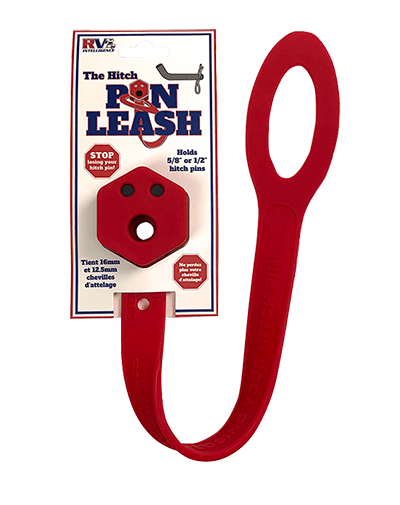 The Hitch Pin Leash in packaging